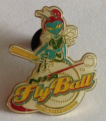 "Fly Ball NSA ""Fast Pitch Rules"" Girls Softball Pin Badge Rare Authentic (E2)"
