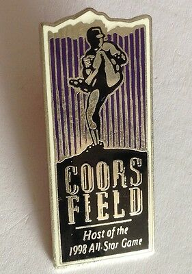 Coors Field Host Of 1998 All Star Baseball Game Pin Badge Rare Authentic (E2)