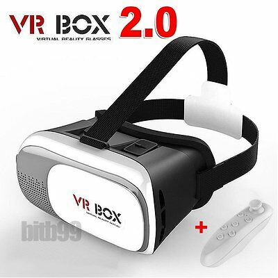 Google Cardboard 2nd VR BOX Virtual Reality 3D Glasses Bluetooth Remote Control!