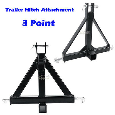 "Small/Big 3 Point 2"" Receiver Trailer Hitch Category 1Tractor Tow Drawbar Pull"