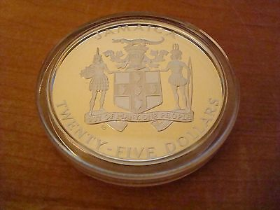 SILVER PROOF 4.35 Ounce 1984 JAMAICA $25 COIN SUMMER OLYMPIC GAMES