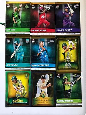 Tap N Play 2016/2017 Gold parallel Cricket cards Australia BBL WBBL Big Bash