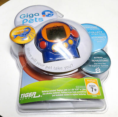 Tiger Games Giga Pets Hand Held Game Scorpion, New, Factory Sealed