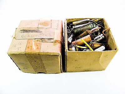 Box Filled With Condensers Circuit Board Electronic Parts Bundle Components