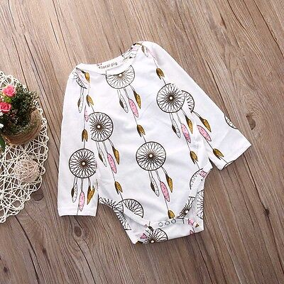 Newborn Toddler Baby Girls Boy Romper Jumpsuit Bodysuit Clothes Outfits US Stock