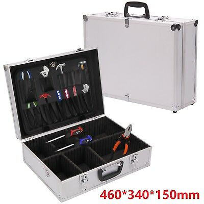 Aluminium Flight Case storage Toolbox Portable joiners Electricians Tool Boxes