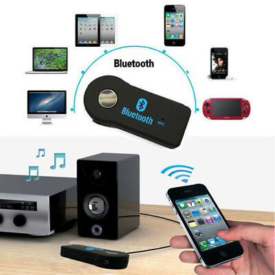 Handsfree Wireless Bluetooth Stereo Audio Receiver To AUX Adapter Car Kit NEW