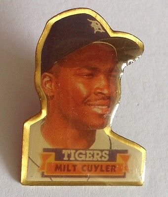 Milt Cuyler Detroit Tigers Baseball 1990 Pin Badge Rare Authentic Vintage (E2)