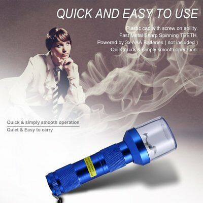 Electric Allloy Metal Grinder Crusher Crank Tobacco Smoke Spice Herb Muller AU