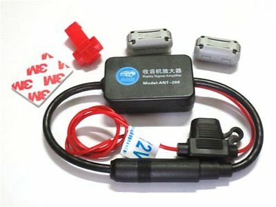 Universal Car FM-AM Radio Aerial Antenna Signal Amplifier Booster Male To DK