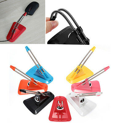 W~Mouse Cable Holder Mouse Bungee Cord Clip Wire Line Organizer Holder#W