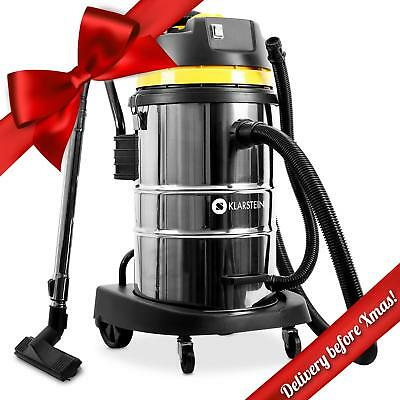 Industrial Vacuum Stainless Steel Bagless Shop Wet & Dry Vac Cleaner 2000W 50 L
