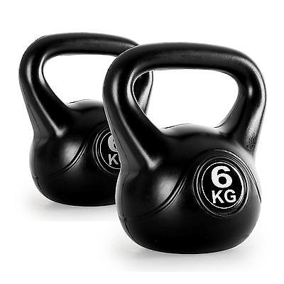 6Kg Pair Kettlebell Strength Training Weight Lifting Dumbells Workout Exercise