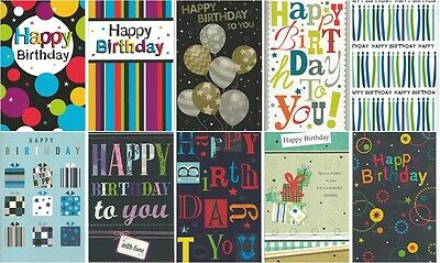 Pack of 10 General Birthday Cards JGB003