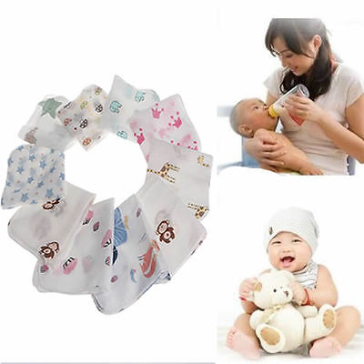 10pcs Baby Infant Towel Muslin Handkerchiefs Two Feeding Wipe Cloth 28*28cm