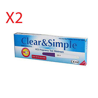 Clear & Simple Pregnancy Test Kit x2