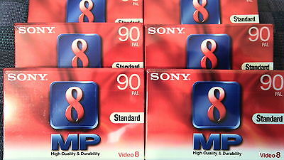 Video 8 Cassette ovp Super Profi Qualität SONY P5-90MP3 V8 D8, MP Metal Particle