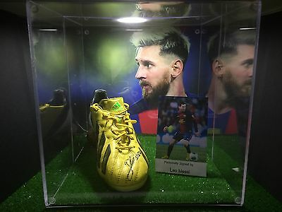 LEO MESSI MATCH WORN Handsigned boot