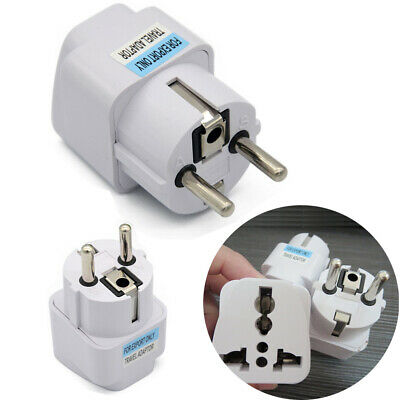 Universal US AU UK GER ZA to EU Europe Travel AC Power Plug Adapter Konverter