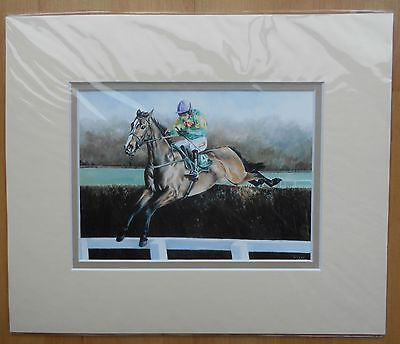 Kauto Star and Ruby Walsh Double Mounted Fine Art Picture Print  Horse Racing