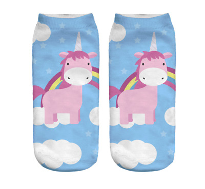 2 Paar little blue Einhorn Socken