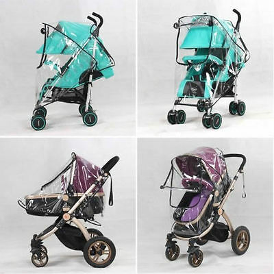 Universal Waterproof Rain Cover Wind Dust Shield Canopy Baby Strollers Pushchair