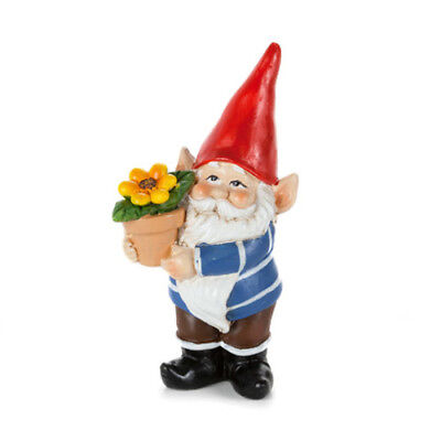 "1"" My Fairy Gardens Mini Gnome Figure - Holding Flowerpot - Miniature Figurine"