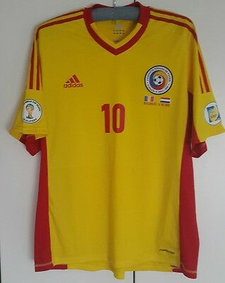 Romania Match Worn Shirt Qf Wc 2014 Vs Holland Adrian Mutu