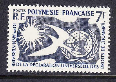 French Polynesia 1963 - 7f Human Rights - Fine Used