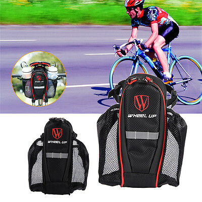 Double Pockets Bottle Hold Bicycle Seatpost Bag Bike Rear Tail Saddle Bag