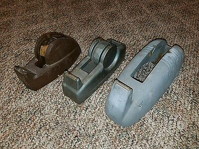 VINTAGE lot of 3 Tape Dispensers / Scotch