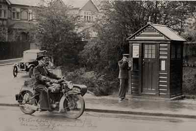 PHOTO POLICEMAN - TAKEN FROM A 1920's IMAGE OF POLICE BOX IN ST ALBUNS
