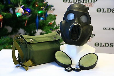 WW2 Soviet Army Gas Mask PBF EO-19 witth  filter and bag BLACK NEW VINTAGE gift