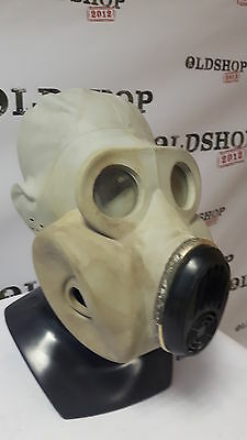 Soviet Army Gas Mask PBF EO-19 only DIRTY, no filter, no bag USED Gray Rubber