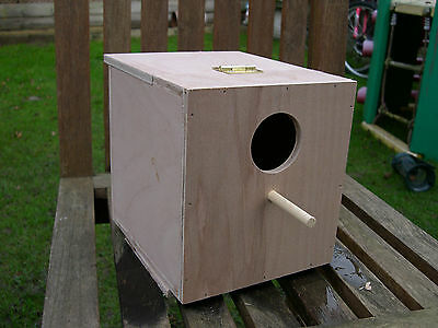 "Qty 1 - 7"" Cube Lovebird / Parrotlet Nest Box Breeding Box - 9mm Hardwood Ply"