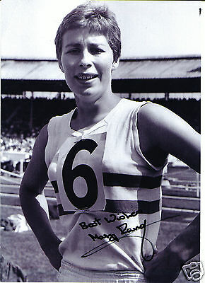 Mary Rand Olympic Gold Medalist 1964 Hand Signed Autograph 11 x 8 Photograph