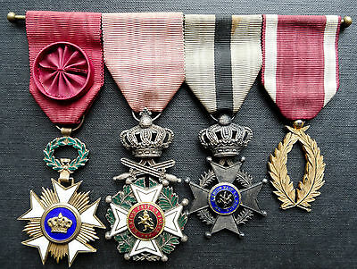 Belgium: Group Of 4 Full Size Medals Orders