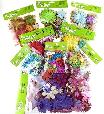 PETALOO FLORA DOODLES FLOWERS Flower Embellishments ***HUGE DISCOUNT***