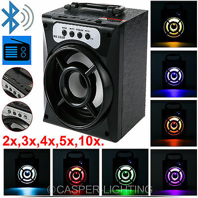 Wireless Outdoor Bluetooth Speaker Portable Stereo Super Bass W/ Usb/tf/fm Radio