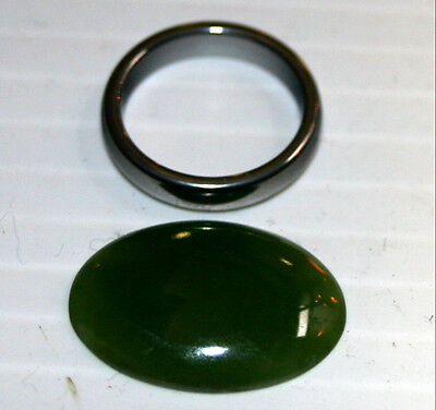 Natural Green Jade Loose Large Gemstone 18x25mm Oval Cabochon 14ct Gem ja60
