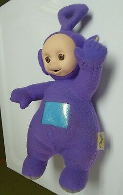 "1998 Talking Tinky Winky 16"" Plush Teletubbies Playskool Works Great"