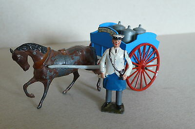 Britains Dairy  Horse and Cart with Milkman and Milk Churns   Vintage