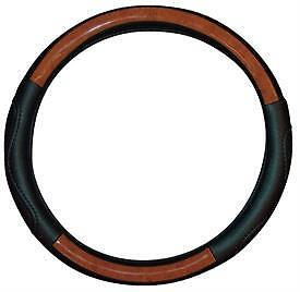 WOOD LEATHER Effect Steering Wheel Cover for KIA
