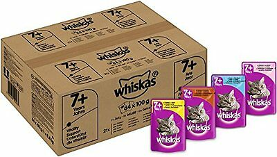 Whiskas 7  Senior Cat Pouches Variety in Jelly, 84 x 100 g