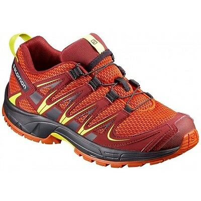 Chaussures Salomon Jr Xa Pro 3d J Red Flea Gecko