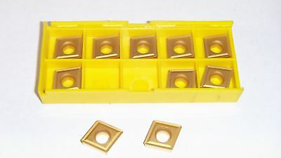 New 10Pcs Ccmt-431 Tin Coated  Carbide Inserts