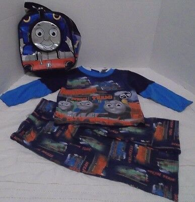 Thomas Tank Engine Pajamas Size 3 T Small Thomas Backpack/Lunch Bag/Overnighter
