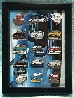 Rare HONDA Lot of 15 Discontinued Honda Cars Pins with Collection Frame F/S