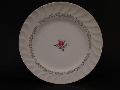 "Royal Swirl by Fine China of Japan 7-5/8"" Salad Plate Pink Flowers And Rose b143"