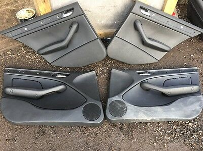 BMW 3 E46 TOURING Estate 4X DOOR CARDS FRONT & REAR Leather DOOR CARD PANELS